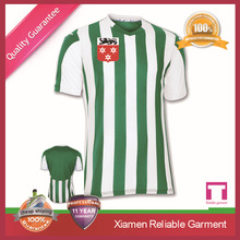 The latest sublimation green soccer uniforms from China