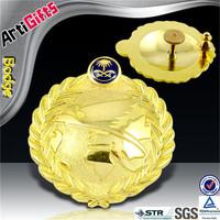 Handmade cheap metal fake gold badge