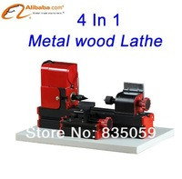 New and Free Shipping! 4 In 1 tools Motorized Mini Machine Jig-saw Grinder Metal wood Lathe