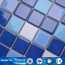 TC-48018 china wholesale price for blue and white ceramic mosaic tiles