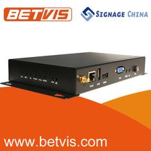 Highly stable vga hdmi-base avi lcd digital signage media player