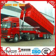 60 ton 3 axle rear dump truck trailer, tractor hydraulic semi trailer