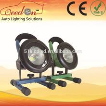 Qeedon Qeedon 20W emergency rechargeable dc 12v 50w led flood light battery powered 30W portable floodlight
