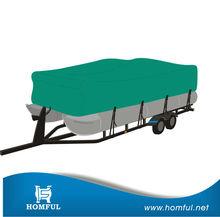 waterproof and dustproof pontoon travelling boat cover - Teal color