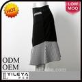 La última moda de la espina de pescado del dril de algodón patrón de la falda