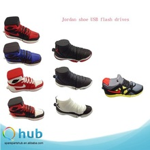 Silicone Jordan Air Sneaker shoe USB flash drives, Shoe shape USB stick