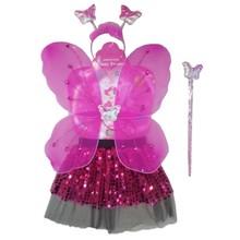 new style girls dress yarn fairy butterfly wing/headband/wand/skirt sets