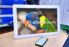 HD large screen digital frame 15 inch support RM / RMVB / MKV / MOV / M4V / MPG / FLV / PMP / AVI / VOB / DAT / MP4 / 3PG