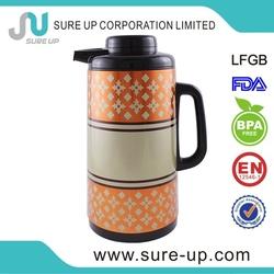 2015 Europe hot sell plastic glass liner vacuum water jug coffee pot (JGBD)