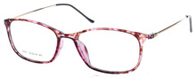 Newest model pink color slim temple frame
