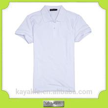 custom-made slim-cut thick mens plain white collar t shirt