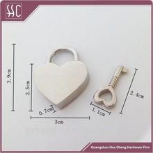 heart shape pad lock mini size bag lock luggage parts,suitcase parts