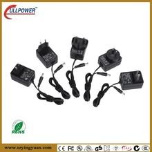 US UK AU EU plug 12v 1a power adapter with UL,FCC,CE,GS,SAA,KC,PSE certificates