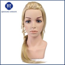 Fashion Retail Store Plastic Hair Dummy Head for Hair Display