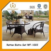Luxury Leisure Hotel/Backyard Modern Rattan Coffee Table And Chair