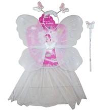 girls fancy dress yarn fairy butterfly wing/headband/wand/skirt sets kids frock design