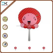 Strawberry design kids plastic gift fan, summer handle fan, nice fan