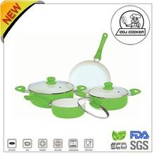 7PCS FDA&LFGB Pressed Aluminum Non-stick Ceramic/Marble Coating New Cooking Products