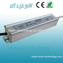 30w aluminum cover led driver, slim led power supply, 12v dc led switching transformer