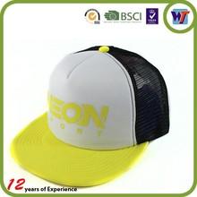 Wholesale new design flat brim mesh trucker caps snapback cap