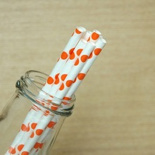 trending hot products cute drinking polka dot Paper Straws for birthday