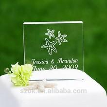 Square clear elegant acrylic wedding decoration for sale