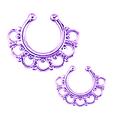 Unique en laiton cloison pour non percées anneau dans le nez bijoux de corps non- piercing bijoux de corps