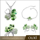 OUXI 2015 Four leaf clover flower jewelry made with Swarovski elements S-4001