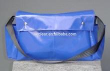 waterproof shoulder bag vinyl coated polyester materials