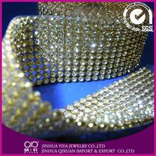 equestrian products rose rhinestone mesh 120*45 crystal rhinestone line trims