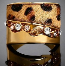 Big promotions anel de ouro 18 k Gold Leopard Print Fur Rings gold filled ring korean drama hot fashion ring