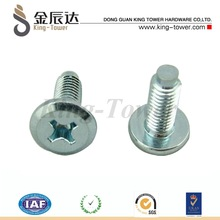 stainless stell machine screws,zinc plated finish, pan head, cross recessed drive