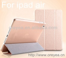 new design hot selling product for ipad air case , for ipad 5 pu leather case
