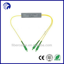 Manufacturing FTTH indoor 2-way splitter with SC/APC connector