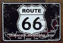 custom ROUTE 66 MAP SHIELD decorativ metal shield