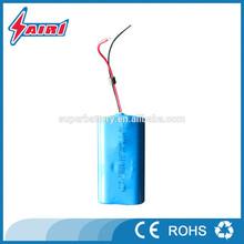 Customized lithium 500 times cycle life 18650 li-ion battery 7.4v 2200mah for LED Light /Solar Street Light