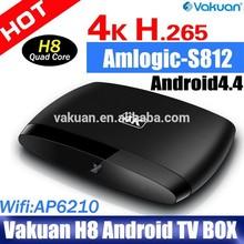 2015 Top Quality Amlogic S812 Quad Core M8S Android Smart TV Box