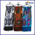 الصين مورد hzw-13406004 السيدات ذات جودة عالية الساخن بيع الحرير البني شالات مطرزة يدويا