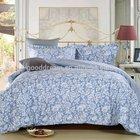 2015 new product bedroom furniture set china wholesale christmas bedding set bed sets cotton bedding setvblue flower blue strip