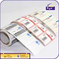Adesivo personalizado rolo à prova d ' água perfurado etiqueta de papel de código de barras etiqueta de preço