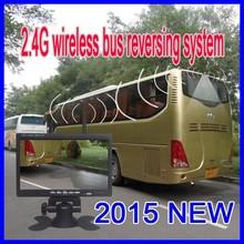 24V wireless waterproof bus back up camera system 7 inch monitor + truck camera