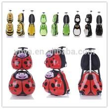 "2014 Animal Design Kids Travel System Baby School Bag and Trolley Travel Set (17"" &13'')"