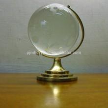high quality crystal rotating globe MH-Q0238