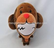 oem factory new product monkey plush toys smile monkey