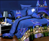 France Eiffel tower printed personal style sexy room warm decration polyester 3d bedding set