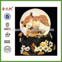 Owl In Flight Snow Globe Sculptured Resin Water Ball Music Box Music Of The Night