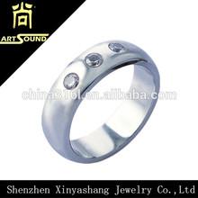new fashion diamond zircon womens tungsten ring wedding band
