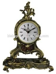 Luxury Mini Size Copper Clock Antique Clock Digital Desktop Clock
