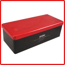 rectangle to sale factory packing tin red wine metal can