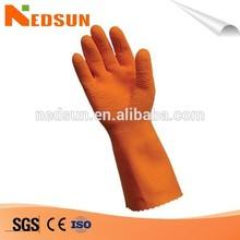 Wavy latex coat durable working gloves